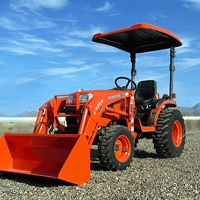 P10 Series Fiberglass Canopy for Tractors & Mowers (Orange - 45