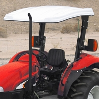 N2 Fiberglass Canopy for Massey Ferguson Utility & Ag Tractors with 5