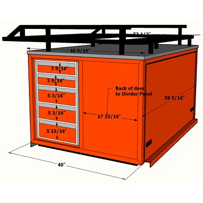 30 Quot Bed Cap With Drawers Amp Extended Ladder Rack