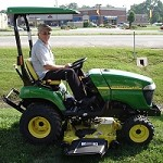 Hardtop ABS Plastic Canopy Mowers and Compact Tractors - Green