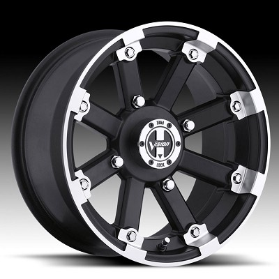 "14"" Lockout Matte Black UTV Wheel with Machined Lip"