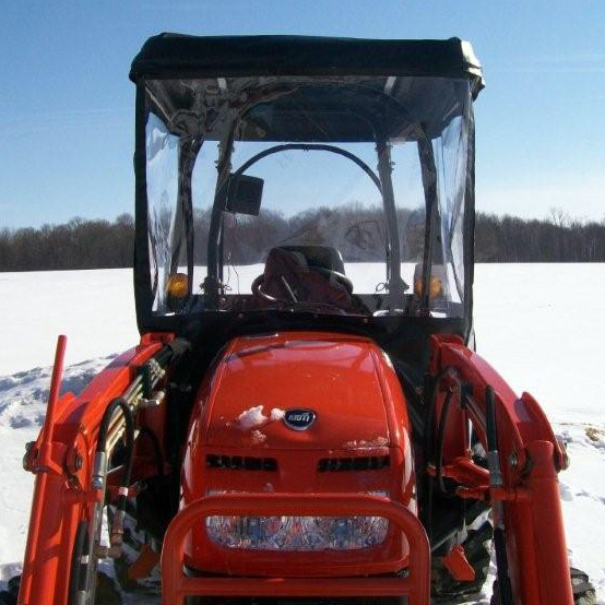 Cab Enclosure for Kioti CK Series Tractors with Folding Roll Bar (Requires  Aftermarket Fiberglass Canopy)