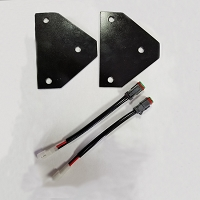 Cube Light Mounting Brackets & Wiring Harness for Kubota RTV-X1100