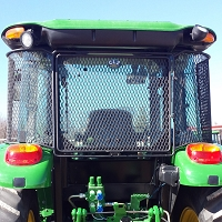 Rear Rock Screen Guard For John Deere 5000 & 6000 Series Tractors