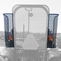 Set of Side Screens for Use with Protective Rear Screen for Kubota M5660, M6060, M7060, M5640, M8560, M6040, M7040