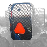 Rear Protective Rock Screen Open Station ROPS for Kubota M Series Tractors M5640, M5660, M6040, M6060, M7040, M7060