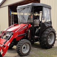 Cab Enclosure for CaseIH FARMALL 50C Tractors with Folding ROPS (Requires Canopy)
