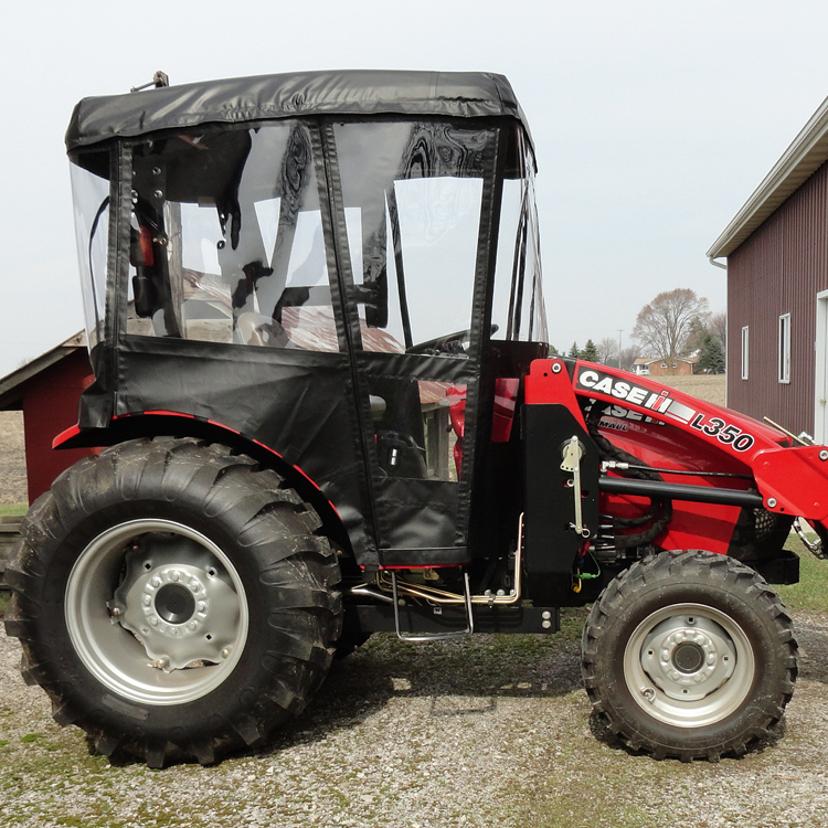 Cab Enclosure for CaseIH DX33 and DX34 Tractors with Folding ROPS (Requires  N1 Canopy)