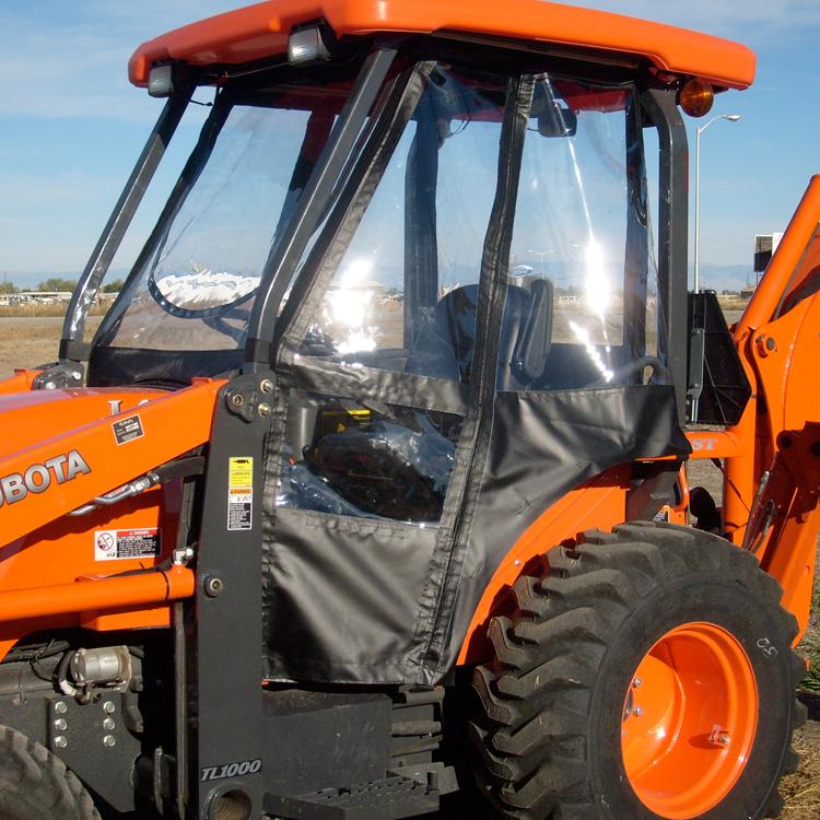 Tractor Cab Enclosure for Kubota B21 TLB - Black