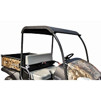 Diamond Plate Aluminum Roof with Black Powder-coat for Kubota RTV400/500