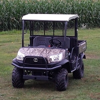 Diamond Plate Aluminum Roof for Kubota RTV X900 and X1120