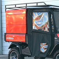 Standard Utility Bed Cap with Rear Cabinet Style Double Doors for Kubota RTV-X Series