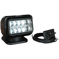 GOLIGHT LED Spot Light with Hardwired Dash Mounted Remote (Black)