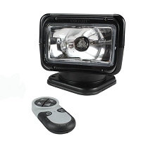 RADIORAY Halogen Spot Light with Wireless Remote (Black)