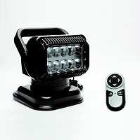 RADIORAY Portable LED Spot Light with Wireless Remote (Black)
