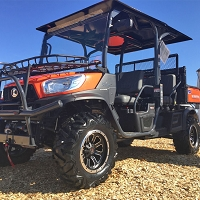 Diamond Plate Aluminium Roof for Kubota RTVX1140 - Black Powder Coat