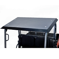 Diamond Plate Roof for Kubota RTVX900 & RTVX1120 - Powder Coated in Black