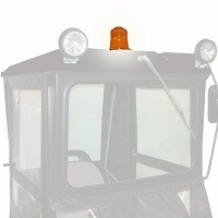12-volt Amber Flashing Caution Light for