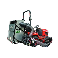 PRO22 DFS Commercial Zero Turn Vac System - Briggs & Stratton 10HP Vanguard Electric Start Gas Engine
