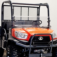 Versa-Fold Uncoated Polycarbonate Windshield for Kubota RTV X-Series (Formerly SM-25029)