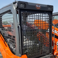 Front Protective Screen with Light Protectors for Kubota SSV75