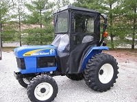 Standard Cab with Hinged Doors for New Holland TZ & Case IH DX 18-25 Tractors