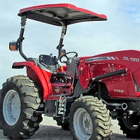 KIT: TAP204 FIBERGLASS CANOPY KIT FOR UTILITY / AG TRACTORS - RED