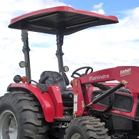 P10 Series Fiberglass Canopy for Tractors & Mowers (Red - 45