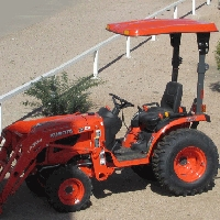KIT: TX2 FIBERGLASS CANOPY KIT FOR SUB-COMPACT TRACTORS - 3