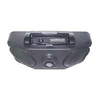 Roof Mount Stereo Console with Dome Light - Black
