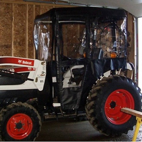 Tractor Cab Enclosure for Bobcat CT335, CT335 SST (Requires Tel-Trax 2000 Fiberglass Canopy)