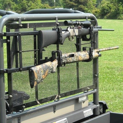 "Power-Ride Utility Vehicle Rear Gun Rack - Rollbars 36-50"" in width"