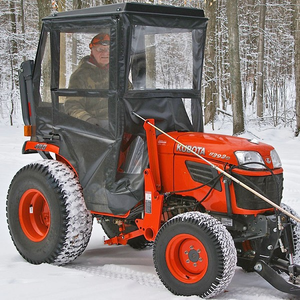 STANDARD CAB WITH HINGED DOORS FOR KUBOTA B SERIES COMPACT TRACTORS