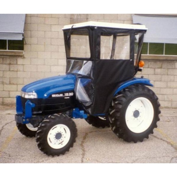 Standard Cab with Hinged Doors for Select Case DX Series, Case Farmall and New Holland Tractors
