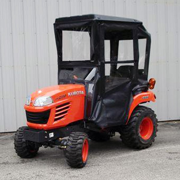 Standard Cab with Hinged Doors for Kubota BX Series Sub-Compact Tractors