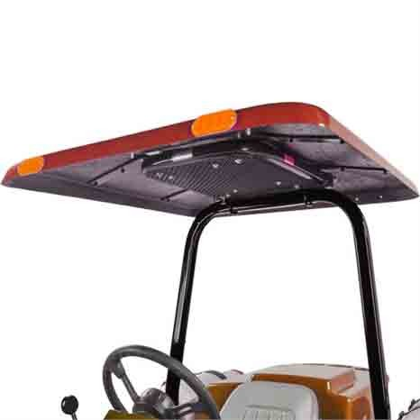 Tractor & Mower Canopy with Down Draft Fan - Red