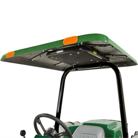 "Tractor & Mower Canopy with Down Draft Fan For Vertical 3"" X 2"" Roll Bar  - Green"