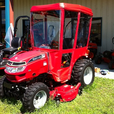 "Tractor Cab-Enclosure for Mahindra 2415 and 2516 with Existing 45"" x 58"" Aftermarket Fiberglass Canopy"
