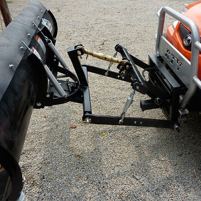 Front Mounted 3-Point Hitch Snow Plow Kit for the Kubota RTV