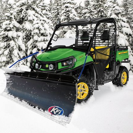 "60"" Pro-P Poly Snow Plow Kit for John Deere Mid Size Gators"