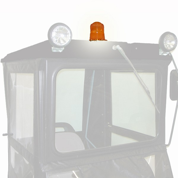 "12-volt Amber Flashing Caution Light for ""Original Tractor Cab"" Cab Enclosures"