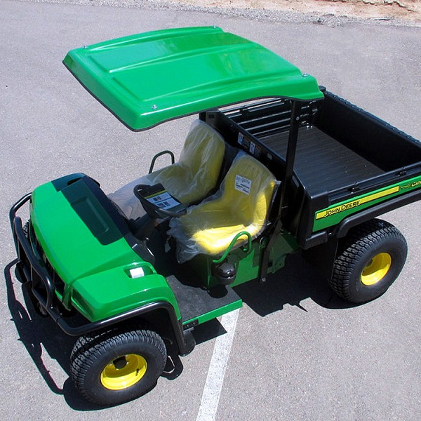 KIT: GREEN FIBERGLASS CANOPY + MOUNTING KIT FOR JOHN DEERE GATOR T-SERIES