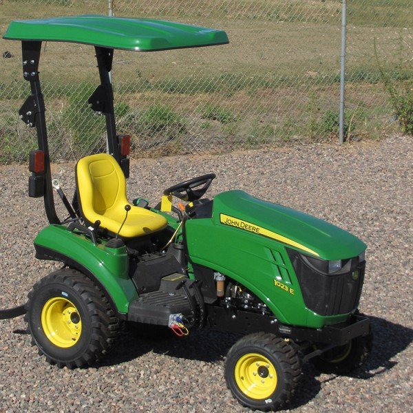 "KIT: GREEN 41"" x 50"" FIBERGLASS TRACTOR / MOWER CANOPY + 2"" x 2"" MOUNT KIT"
