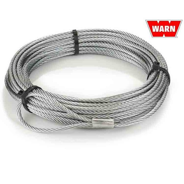 "WARN Replacement Winch Wire Rope - 7/32"" x 55 ft"